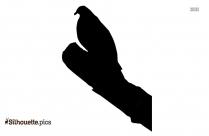 Egret Bird Silhouette Free Vector Art