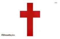Cartoon Christian Cross Silhouette
