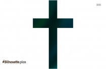 Simple Christian Cross Silhouette