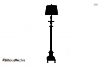 Wooden Floor Lamp Silhouette For Download