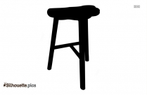 Wooden Stool Furniture Clipart Silhouette