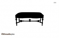 Dining Table Silhouette Icon