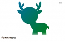 Cute Cartoon Deer Silhouette Free Vector Art
