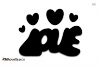 Love Word Silhouette