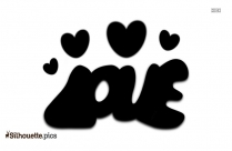 Love Font Silhouette