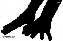 Black And White Hand Limb Silhouette