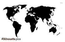 World Map Silhouette Simple
