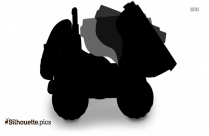 Curbside Recycling Truck Silhouette Illustration Image