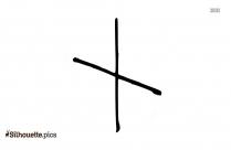 X Cross Vector Silhouette Image