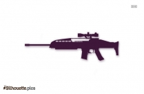 Xm8 Rifle Silhouette Image And Vector, Sniper Rifles Clipart