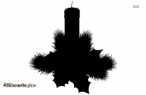 Christmas Candles Silhouette Vector Illustration