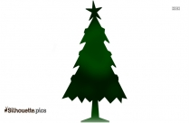 Christmas Tree With Star Vector Silhouette
