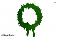 Xmas Wreath Silhouette Background