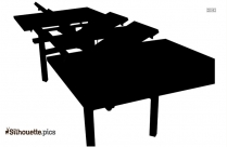 Magazine Rack Table Silhouette Image