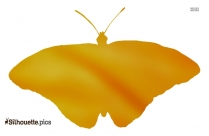 Yellow Monarch Butterfly Silhouette