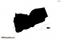 Yemen Map Silhouette