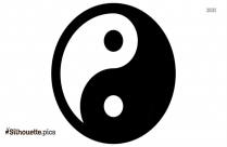 Yin Yang Signs, Fitness Forever Symbol Silhouette