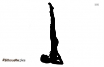 Best Yoga Asana Silhouette Vector