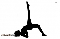 Black And White Yoga Asana Silhouette