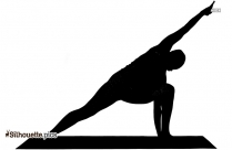 Black Elephant Trunk Yoga Pose Silhouette Image