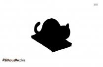 Yoga Cat Symbol Silhouette