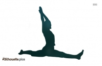 Yoga Drawings Clipart || Stretching Silhouette