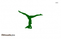 Yoga Headstand Silhouette Clipart