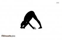 Yoga Pose Silhouette Clip Art
