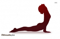 Yoga Basic Exercises Silhouette Vector And Graphics