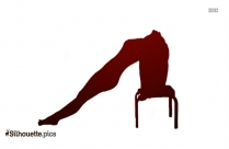 Bow Pose Logo Silhouette For Download