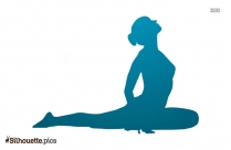 Yoga Lizard Silhouette Art