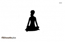 Yoga Pose For Beginners Silhouette Vector