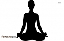 Yoga Pose For Beginners Silhouette Vector Image