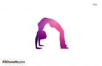 Yoga Dance Pose Silhouette Icon