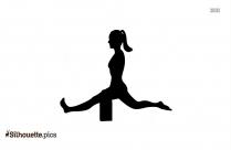 Yoga Stretches Symbol Silhouette