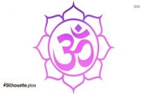 Yoga Symbols Om Silhouette Background