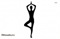 Low Lunge Pose Silhouette