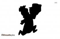 Yogi Bear Picnic Basket Clip Art Silhouette