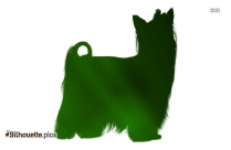 Yorkshire Terrier Dog Breed Silhouette