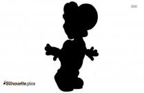 Yoshi Character Silhouette Image