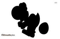 Yoshi Fat Poop Silhouette
