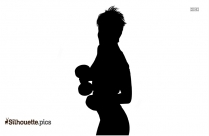 Young Fitness Woman Exercise Silhouette