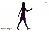 Young Girl Walking Away Vector