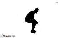 Cartoon Baby Sitting Silhouette Clipart