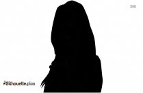 Young People Praying Silhouette Clipart