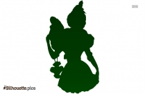 Young Victorian Woman Silhouette For Download
