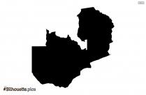 Zambia Map Silhouette Art