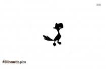 Black And White Cartoon Sandman Silhouette