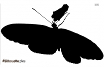 Zebra Butterfly Eating Nectar Silhouette Clip Art