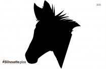 Zebras Head Silhouette Clipart Image